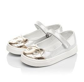 Детские туфли Woopy Fashion серебряные для девочек натуральный нубук размер 23-24 (5188) Фото 3