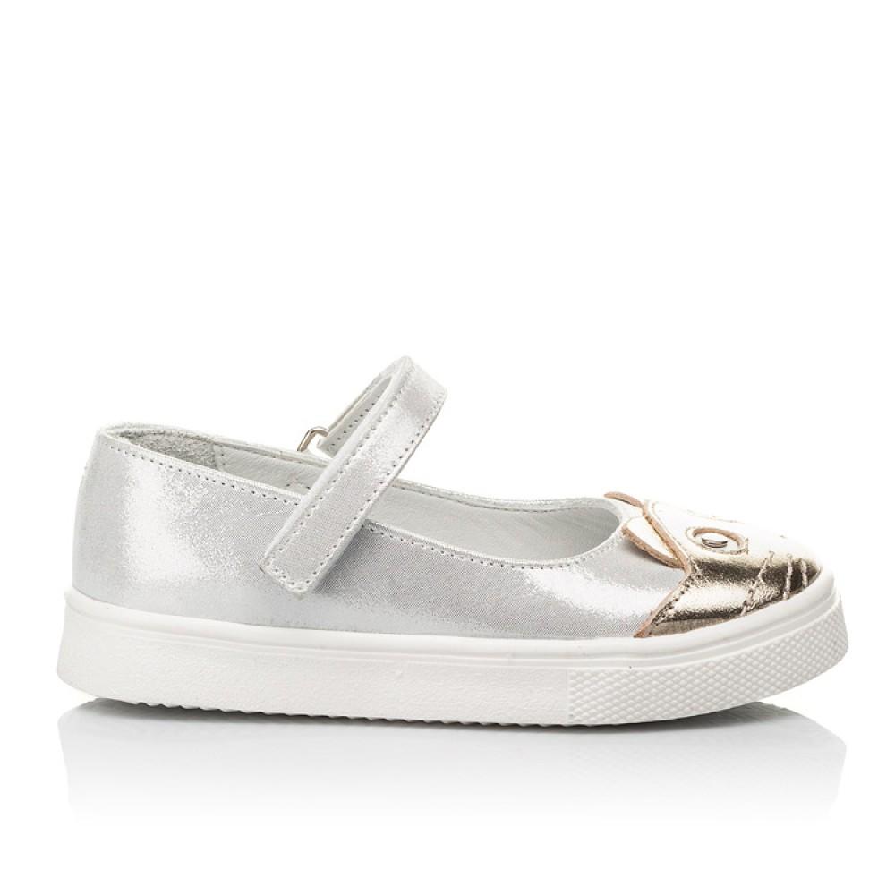Детские туфли Woopy Fashion серебряные для девочек натуральный нубук размер 23-27 (5188) Фото 4