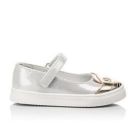 Детские туфли Woopy Fashion серебряные для девочек натуральный нубук размер 23-24 (5188) Фото 4