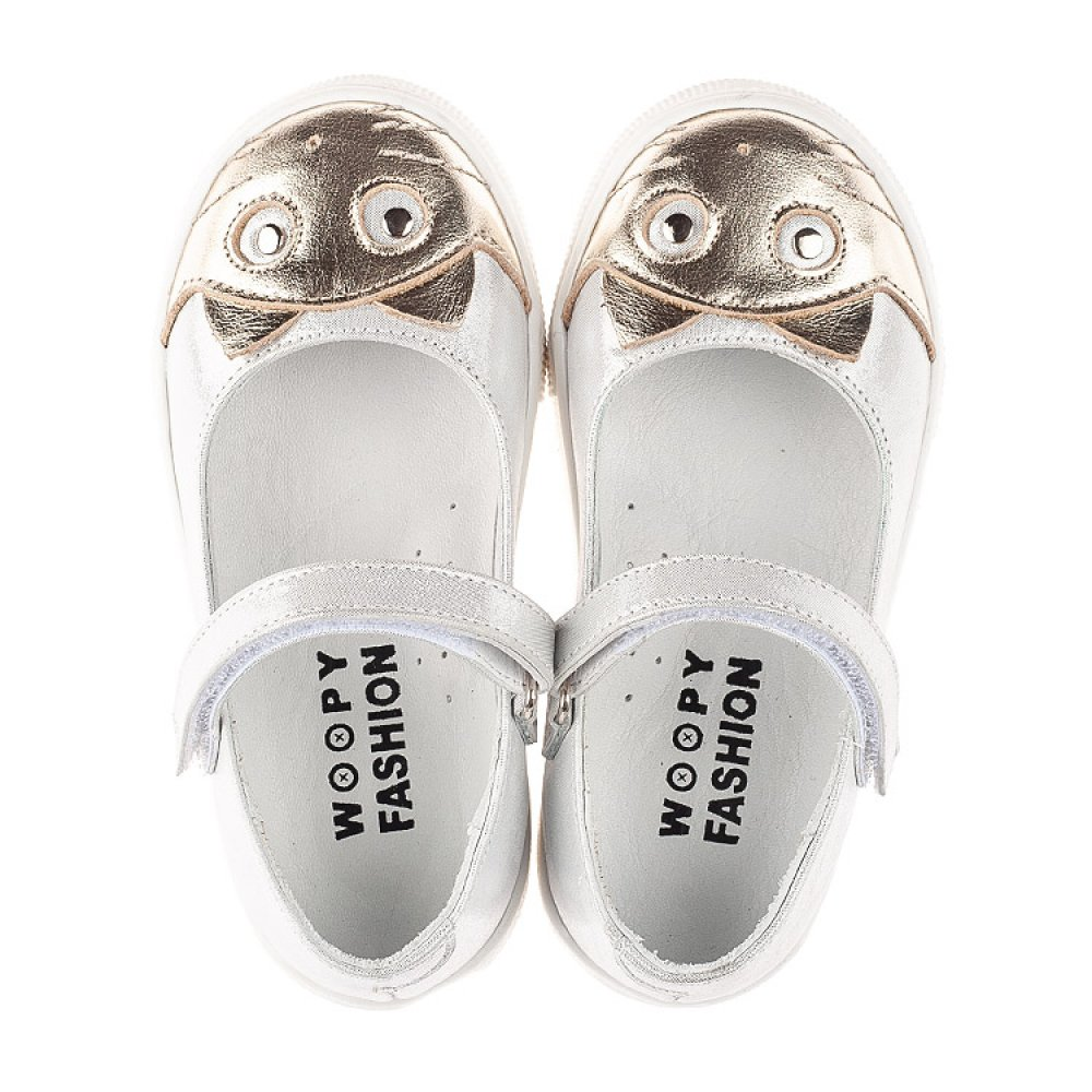 Детские туфли Woopy Fashion серебряные для девочек натуральный нубук размер 23-27 (5188) Фото 5