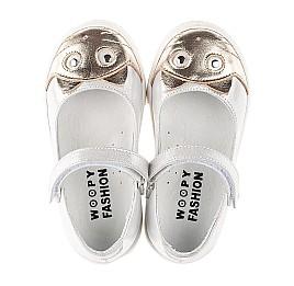 Детские туфли Woopy Fashion серебряные для девочек натуральный нубук размер 23-24 (5188) Фото 5
