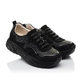 Детские  Woopy Fashion черные для девочек натуральный нубук размер 30-39 (5189) Фото 1