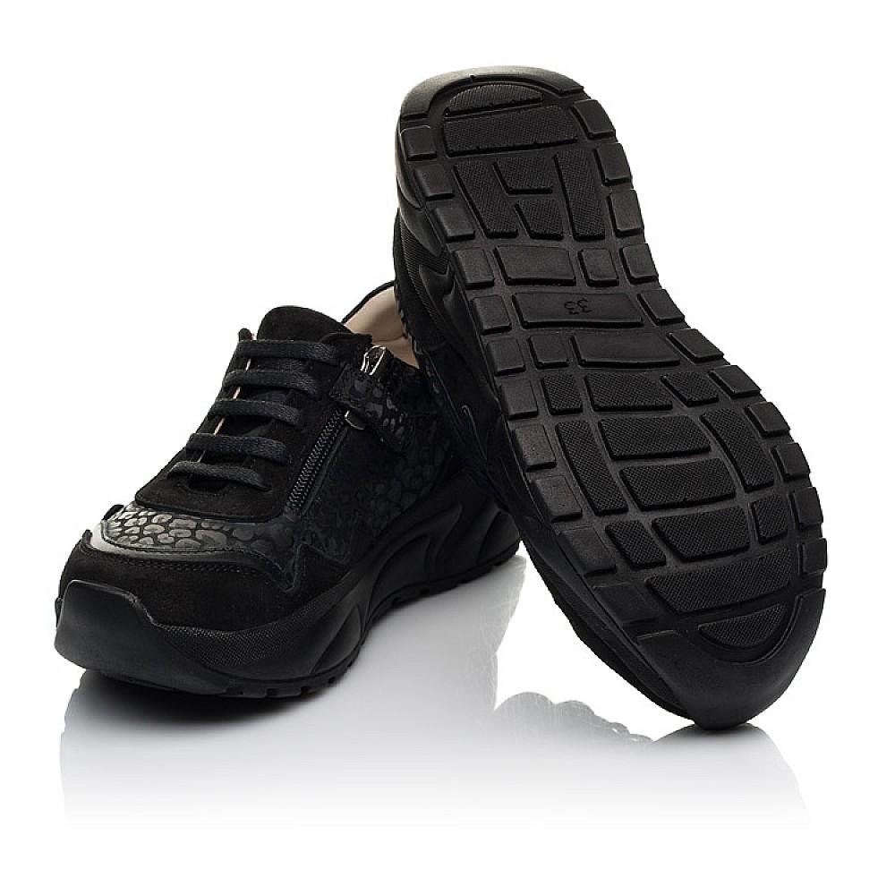 Детские кроссовки Woopy Fashion черные для девочек натуральный нубук размер 30-39 (5189) Фото 2