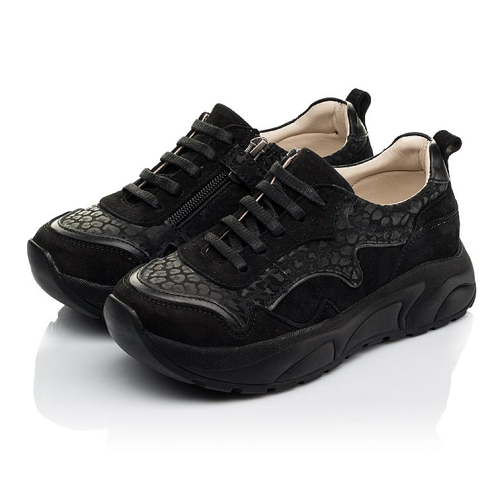 Детские кроссовки Woopy Fashion черные для девочек натуральный нубук размер 30-39 (5189) Фото 3
