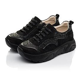 Детские кроссовки Woopy Fashion черные для девочек натуральный нубук размер 30-31 (5189) Фото 3