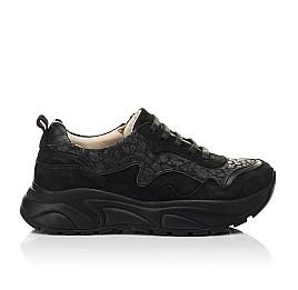 Детские кроссовки Woopy Fashion черные для девочек натуральный нубук размер 30-31 (5189) Фото 4