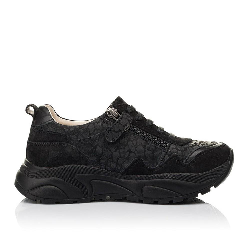 Детские кроссовки Woopy Fashion черные для девочек натуральный нубук размер 30-39 (5189) Фото 5