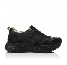 Детские кроссовки Woopy Fashion черные для девочек натуральный нубук размер 30-31 (5189) Фото 5