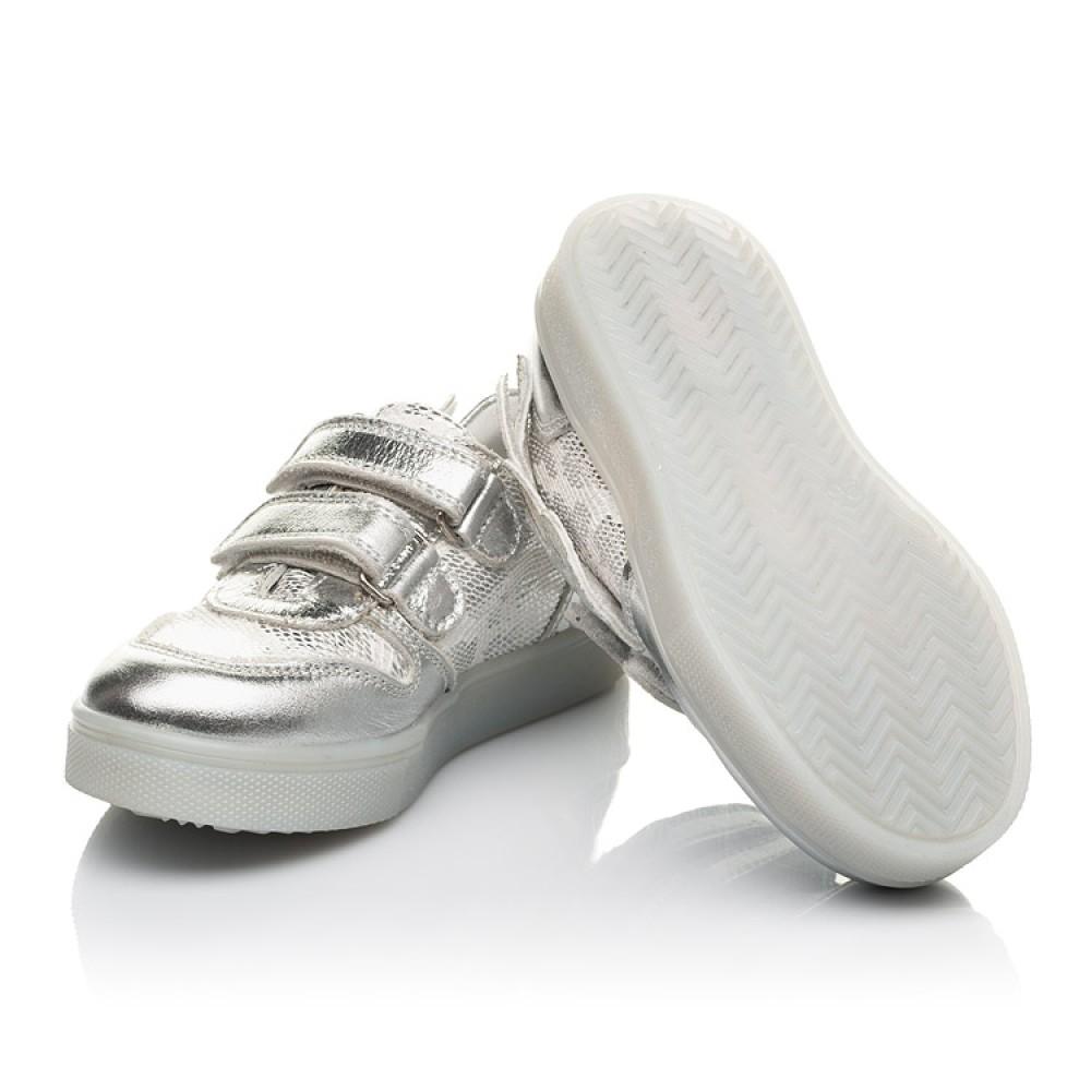 Детские кеды Woopy Orthopedic серебряные для девочек натуральная кожа, искусственный материал размер 22-39 (5190) Фото 2