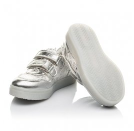 Детские кеды Woopy Orthopedic серебряные для девочек натуральная кожа, искусственный материал  размер 22-29 (5190) Фото 2