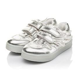 Детские кеды Woopy Orthopedic серебряные для девочек натуральная кожа, искусственный материал  размер 22-29 (5190) Фото 3