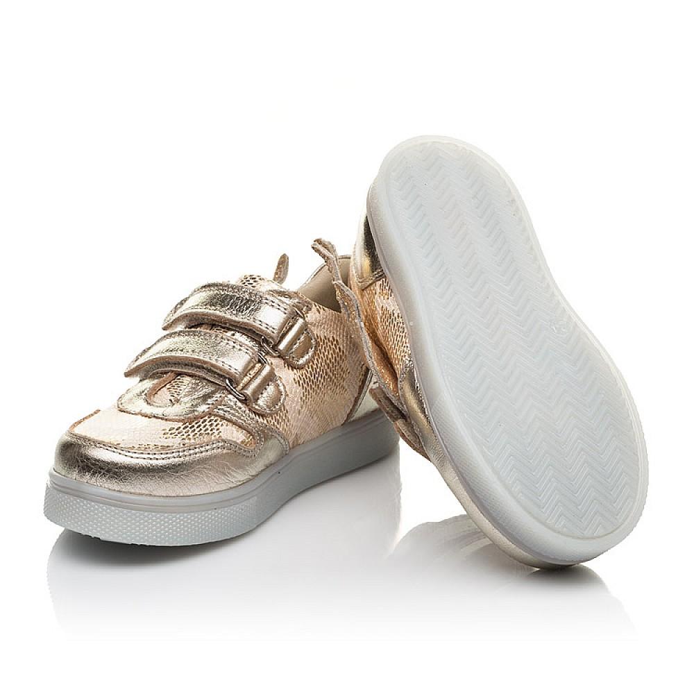 Детские кеды Woopy Orthopedic золотые для девочек натуральная кожа, искусственный материал размер 21-33 (5191) Фото 2