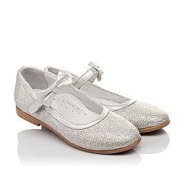 Детские туфли Woopy Orthopedic серебряные для девочек современный искусственный материал размер 28-33 (5193) Фото 1