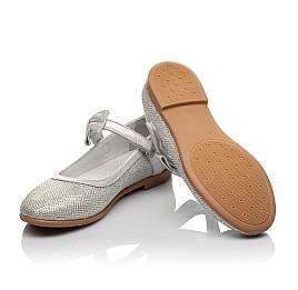 Детские туфли Woopy Orthopedic серебряные для девочек современный искусственный материал размер 28-35 (5193) Фото 2