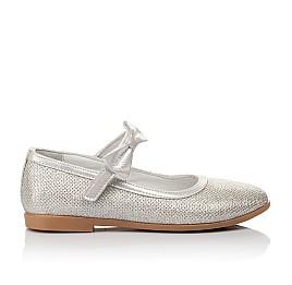 Детские туфли Woopy Orthopedic серебряные для девочек современный искусственный материал размер 28-33 (5193) Фото 4