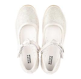 Детские туфли Woopy Orthopedic серебряные для девочек современный искусственный материал размер 28-33 (5193) Фото 5