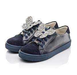 Детские кеды Woopy Fashion синие для девочек натуральный замша и кожа размер 30-39 (5194) Фото 3