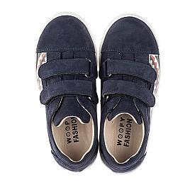 Детские кеды Woopy Fashion синие для девочек натуральный нубук размер 24-33 (5195) Фото 5