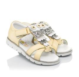 Детские босоножки Woopy Fashion желтые для девочек натуральная кожа размер 21-25 (5197) Фото 1
