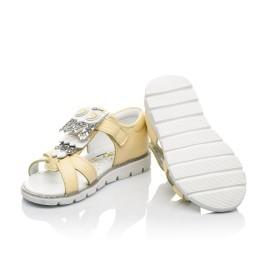 Детские босоножки Woopy Fashion желтые для девочек натуральная кожа размер 21-25 (5197) Фото 2