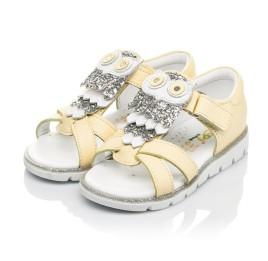 Детские босоножки Woopy Fashion желтые для девочек натуральная кожа размер 21-25 (5197) Фото 3