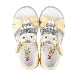 Детские босоножки Woopy Fashion желтые для девочек натуральная кожа размер 21-25 (5197) Фото 5