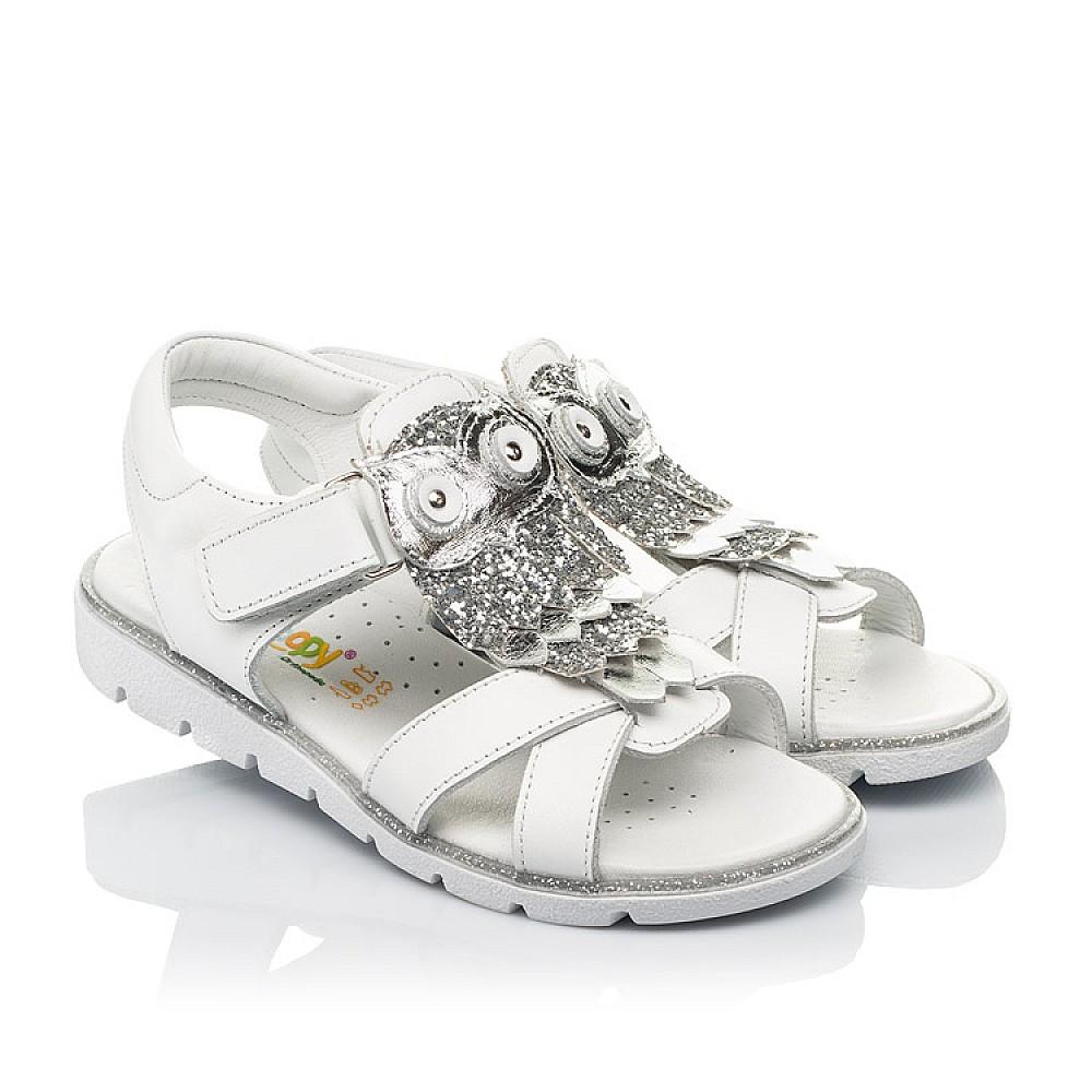 Детские босоножки Woopy Fashion белые для девочек натуральная кожа размер 31-33 (5198) Фото 1