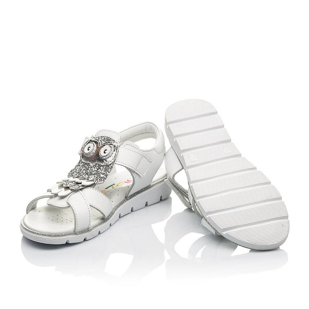 Детские босоножки Woopy Fashion белые для девочек натуральная кожа размер 31-33 (5198) Фото 2