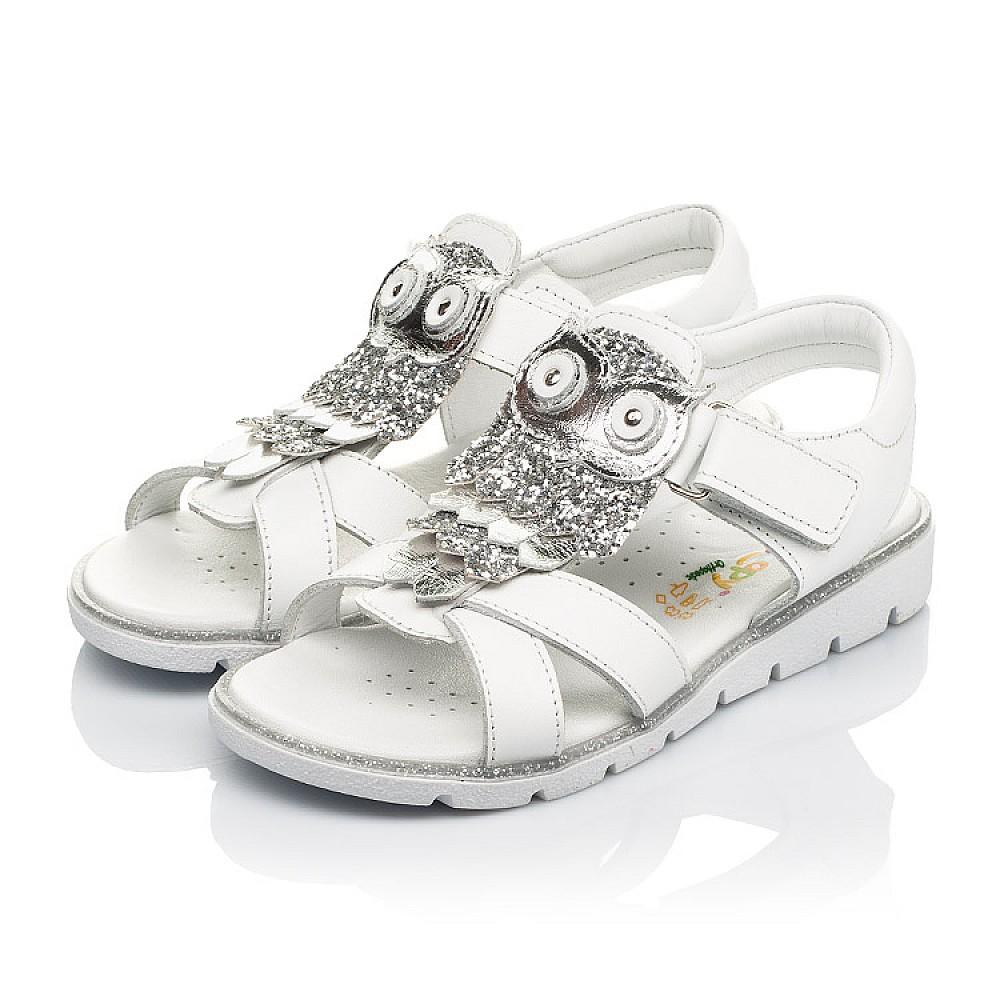 Детские босоножки Woopy Fashion белые для девочек натуральная кожа размер 31-33 (5198) Фото 3