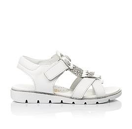 Детские босоножки Woopy Fashion белые для девочек натуральная кожа размер 31-33 (5198) Фото 4