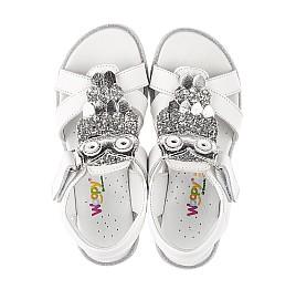 Детские босоножки Woopy Fashion белые для девочек натуральная кожа размер 31-33 (5198) Фото 5