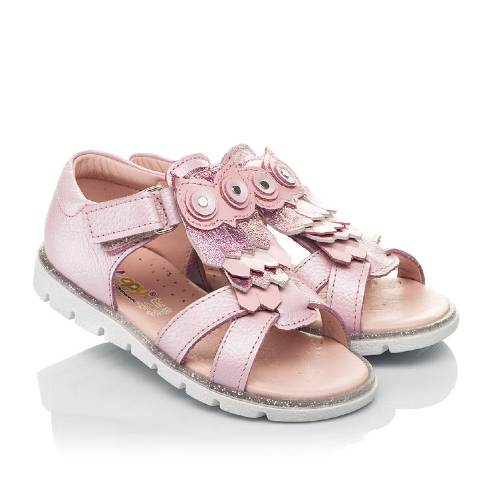 Детские босоножки Woopy Fashion розовые для девочек натуральная кожа размер 21-28 (5199) Фото 1