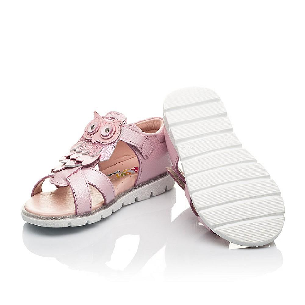 Детские босоножки Woopy Fashion розовые для девочек натуральная кожа размер 21-28 (5199) Фото 2