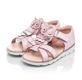 Детские босоножки Woopy Fashion розовые для девочек натуральная кожа размер 21-28 (5199) Фото 3