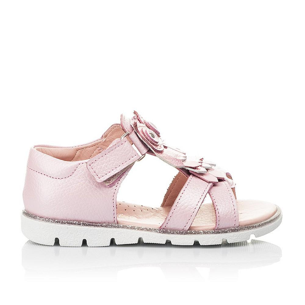 Детские босоножки Woopy Fashion розовые для девочек натуральная кожа размер 21-28 (5199) Фото 4