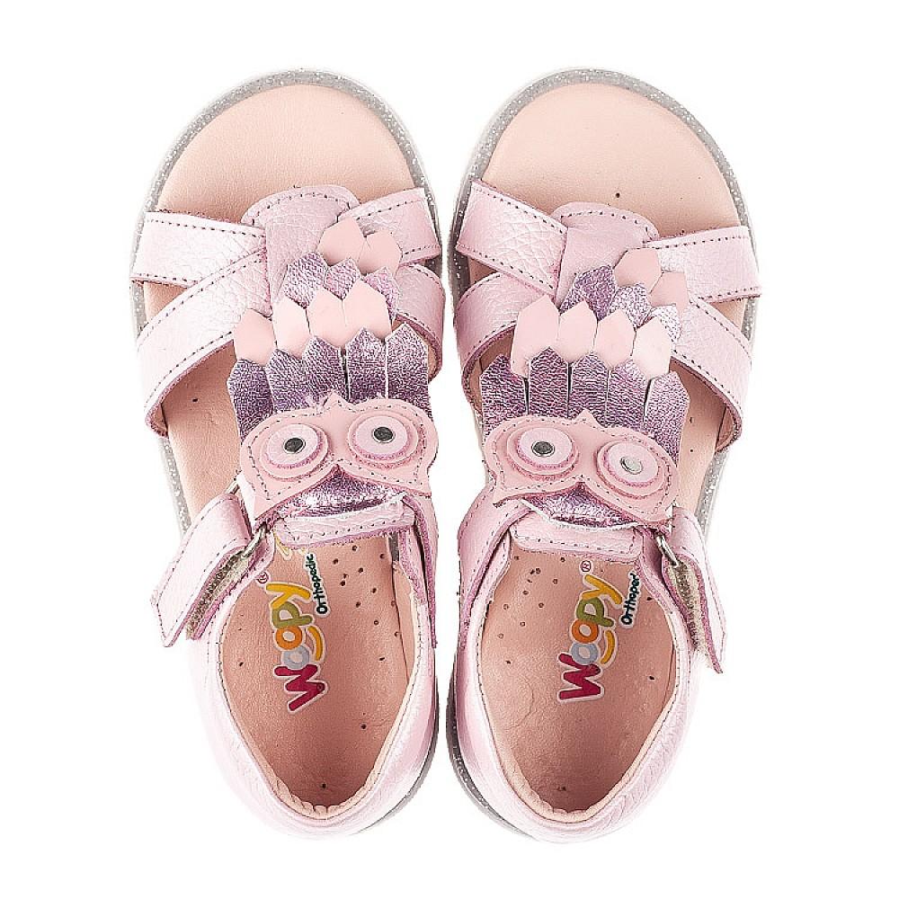 Детские босоножки Woopy Fashion розовые для девочек натуральная кожа размер 21-28 (5199) Фото 5