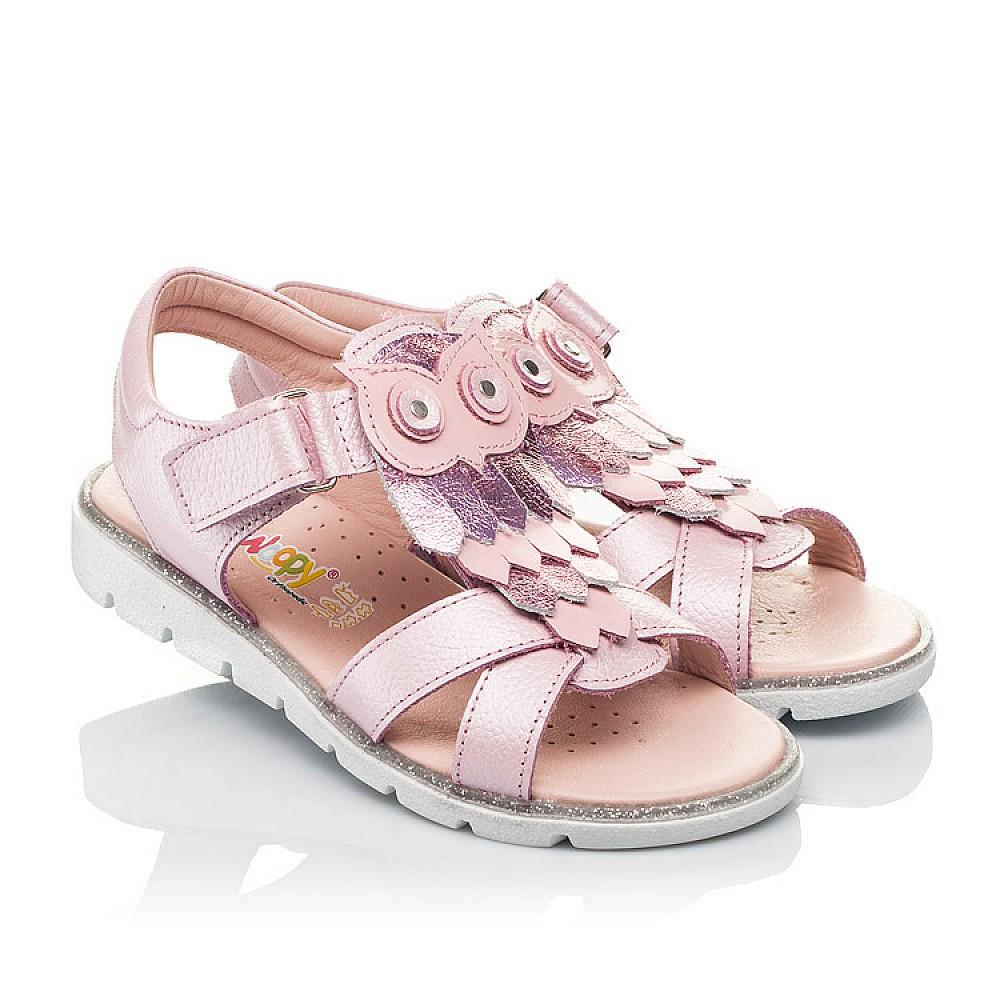 Детские босоножки Woopy Fashion розовые для девочек натуральная кожа размер 29-33 (5200) Фото 1