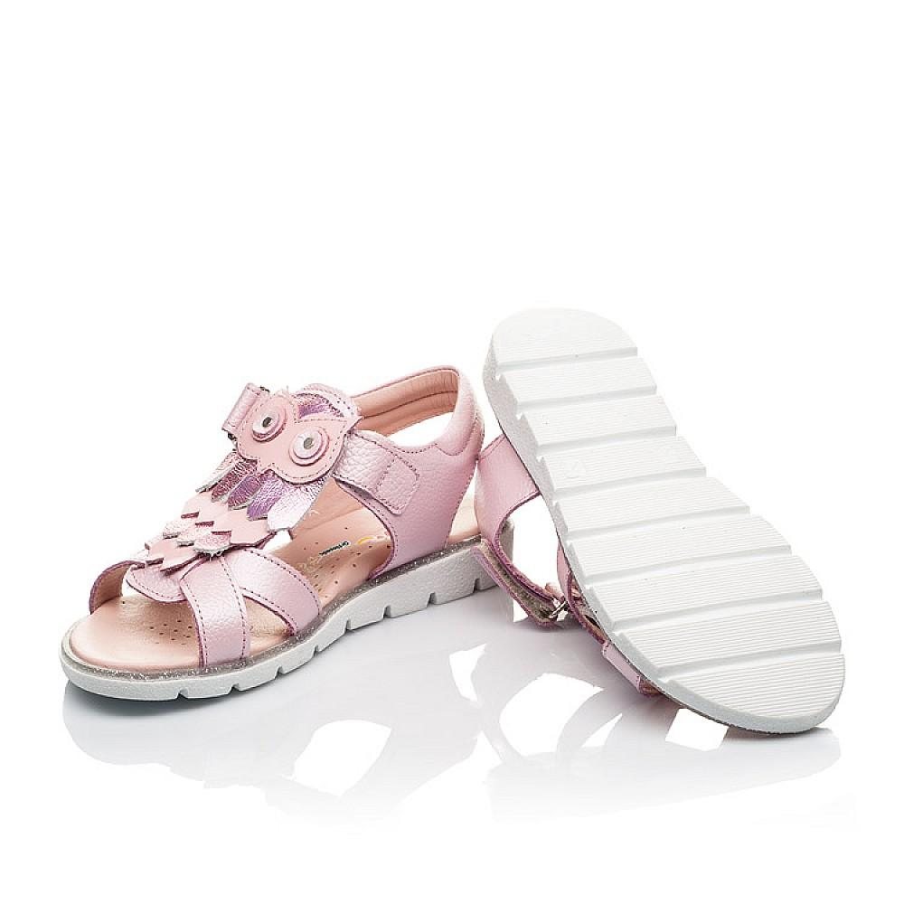 Детские босоножки Woopy Fashion розовые для девочек натуральная кожа размер 29-33 (5200) Фото 2