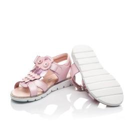 Детские босоножки Woopy Fashion розовые для девочек натуральная кожа размер 31-33 (5200) Фото 2