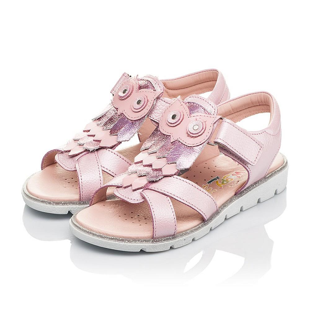 Детские босоножки Woopy Fashion розовые для девочек натуральная кожа размер 29-33 (5200) Фото 3