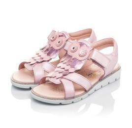 Детские босоножки Woopy Fashion розовые для девочек натуральная кожа размер 31-33 (5200) Фото 3