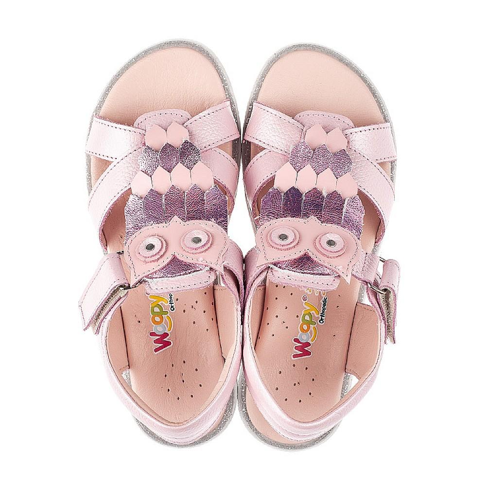 Детские босоножки Woopy Fashion розовые для девочек натуральная кожа размер 29-33 (5200) Фото 5