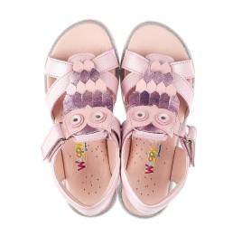 Детские босоножки Woopy Fashion розовые для девочек натуральная кожа размер 31-33 (5200) Фото 5