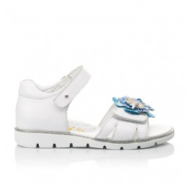 Детские босоножки Woopy Fashion белые для девочек натуральная кожа размер 21-36 (5201) Фото 4