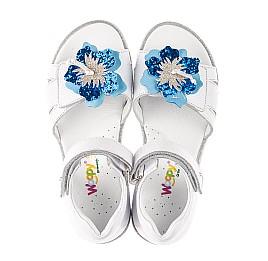 Детские босоножки Woopy Fashion белые для девочек натуральная кожа размер 21-34 (5201) Фото 5