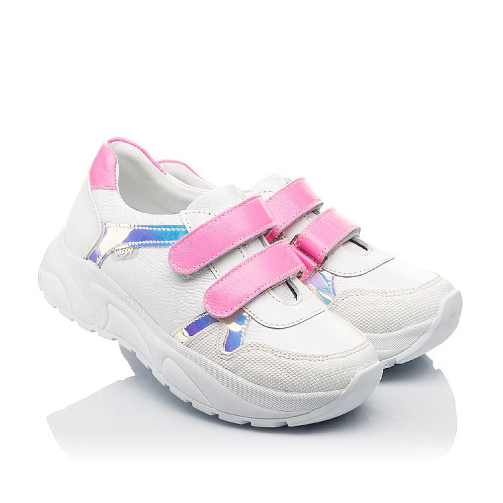Детские кроссовки Woopy Fashion белые для девочек натуральная кожа размер 26-39 (5203) Фото 1