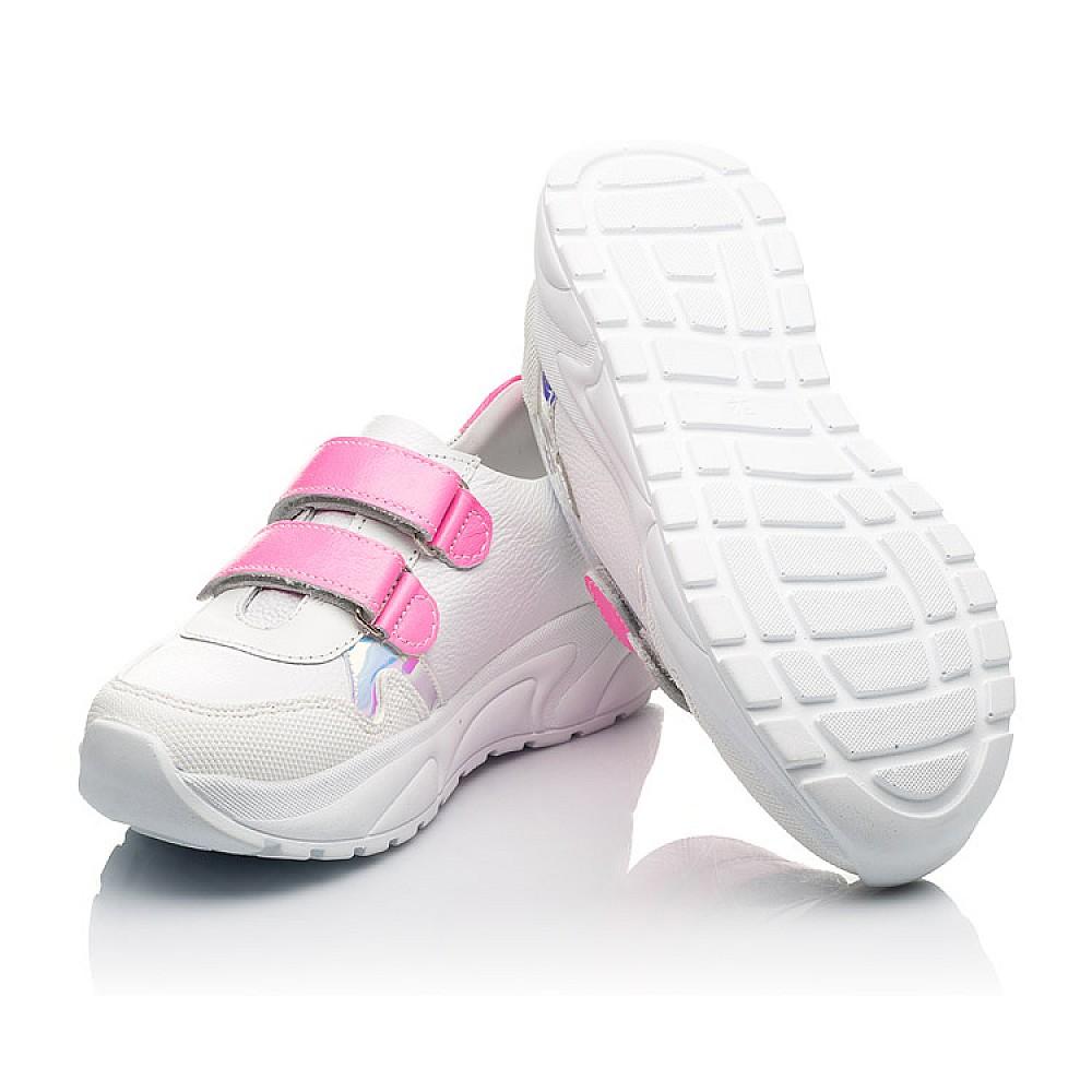 Детские кроссовки Woopy Fashion белые для девочек натуральная кожа размер 26-39 (5203) Фото 2