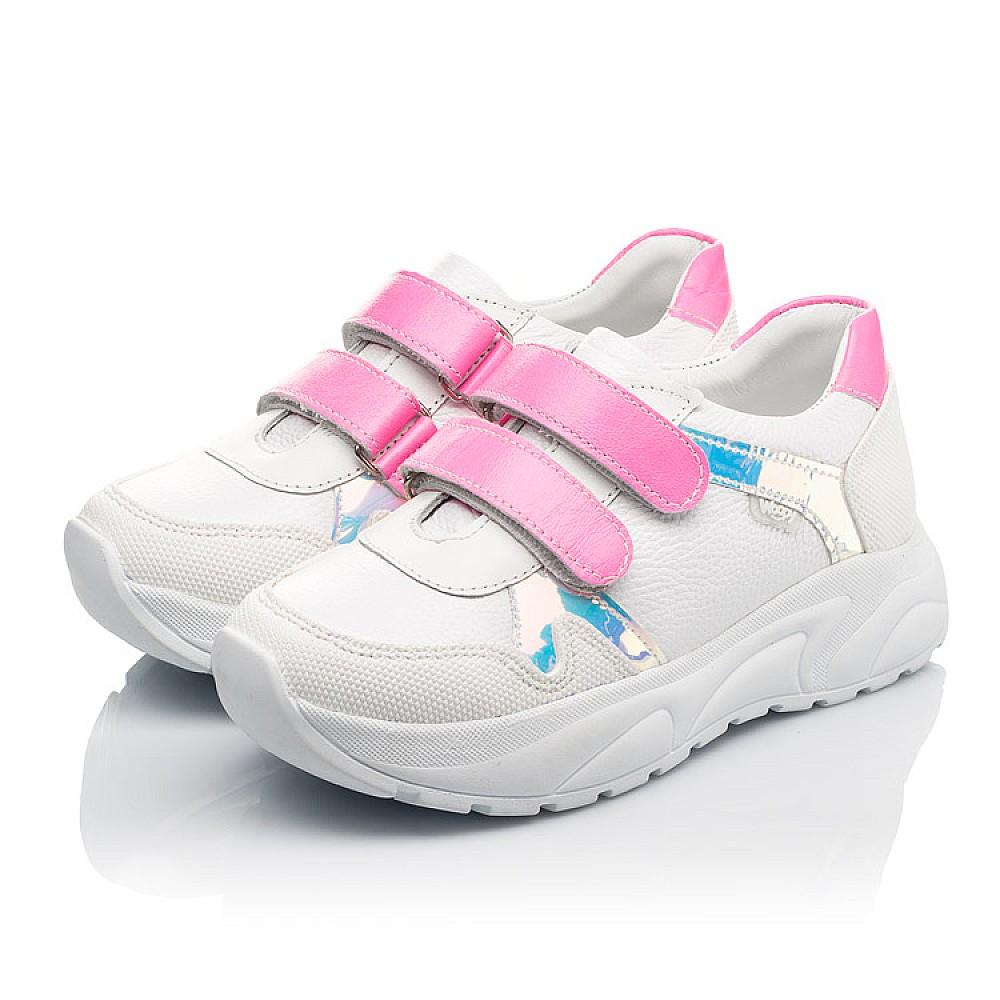 Детские кроссовки Woopy Fashion белые для девочек натуральная кожа размер 26-39 (5203) Фото 3