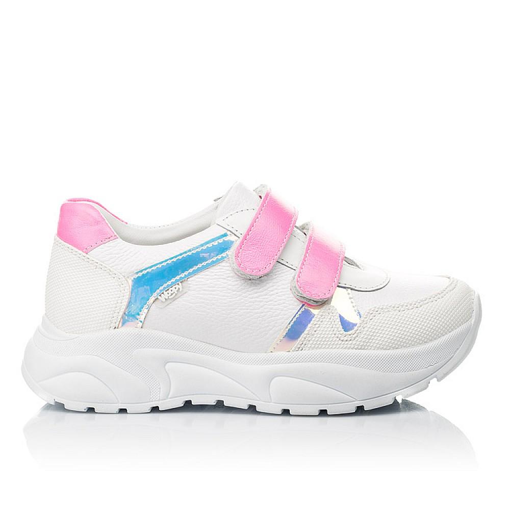 Детские кроссовки Woopy Fashion белые для девочек натуральная кожа размер 26-39 (5203) Фото 4