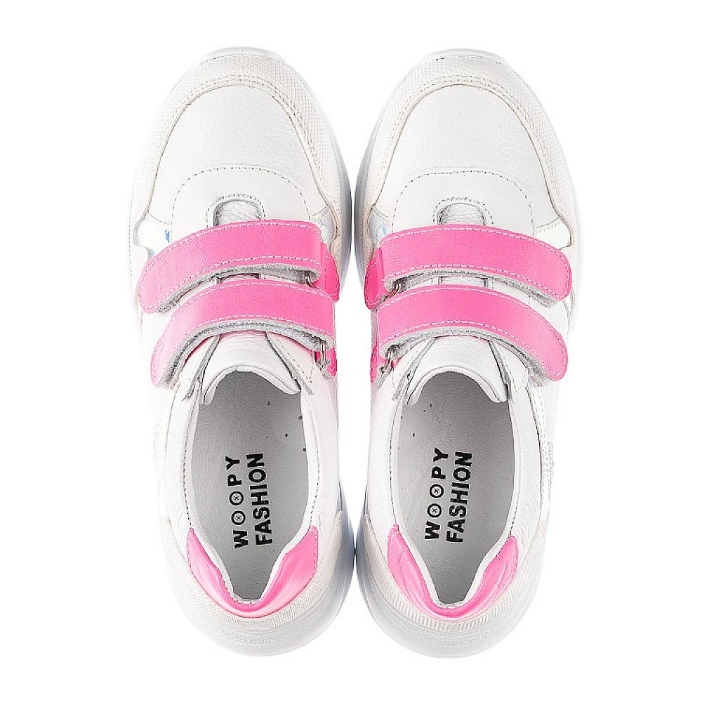 Детские кроссовки Woopy Fashion белые для девочек натуральная кожа размер 26-39 (5203) Фото 5